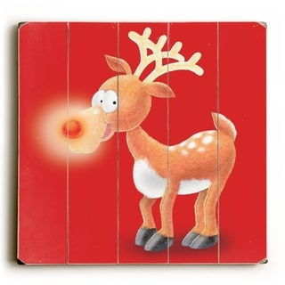 Red Nose -   Planked Wood Wall Decor by ArtLicensing
