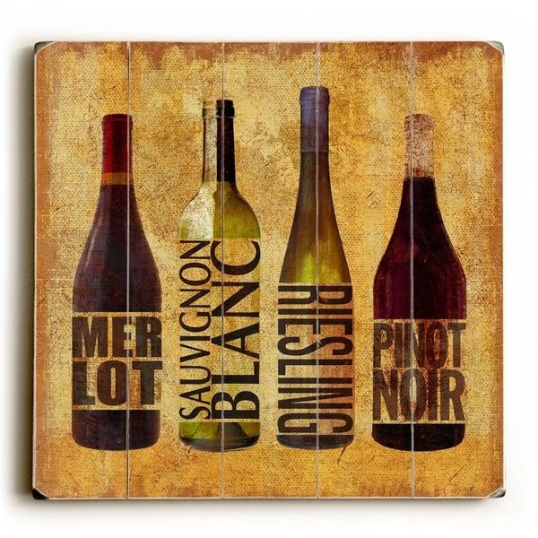 Wine UP - Planked Wood Wall Decor by ArtLicensing