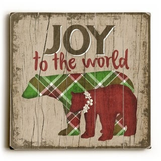 Joy to the World -   Planked Wood Wall Decor by Misty Diller
