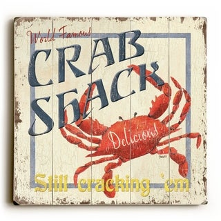 Crab Shack -   Planked Wood Wall Decor by Debbie DeWitt