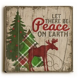 Peace on Earth -   Planked Wood Wall Decor by Misty Diller