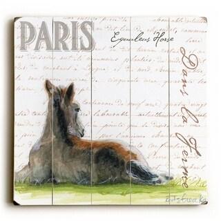 Dans La Ferme Foal -   Planked Wood Wall Decor by Jennifer Redstreake