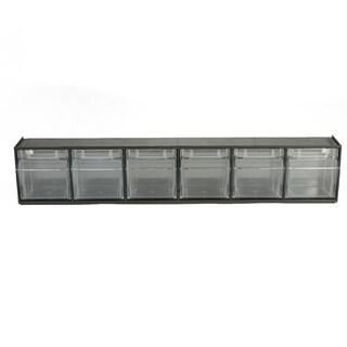 Mind Reader Multi Purpose Storage Tilt Drawer, 6 Compartment Removable Bins, Tip Out Clear Bins, Black