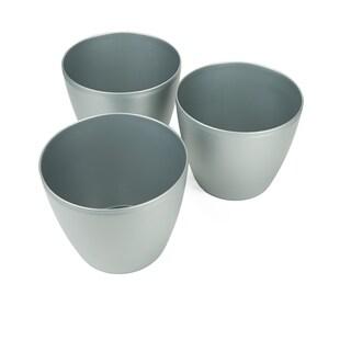 """Mind Reader 3 pc Multi Purpose Trash Bin Set for Kitchen, Bedroom, Bathroom, 12"""" Large Classic Trash Bin Set, Black"""