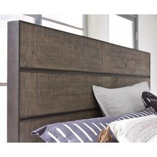 Granada Hills Queen Metal and Wood Panel Bed Headboard