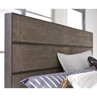 Granada Hills King Metal and Wood Panel Bed Headboard