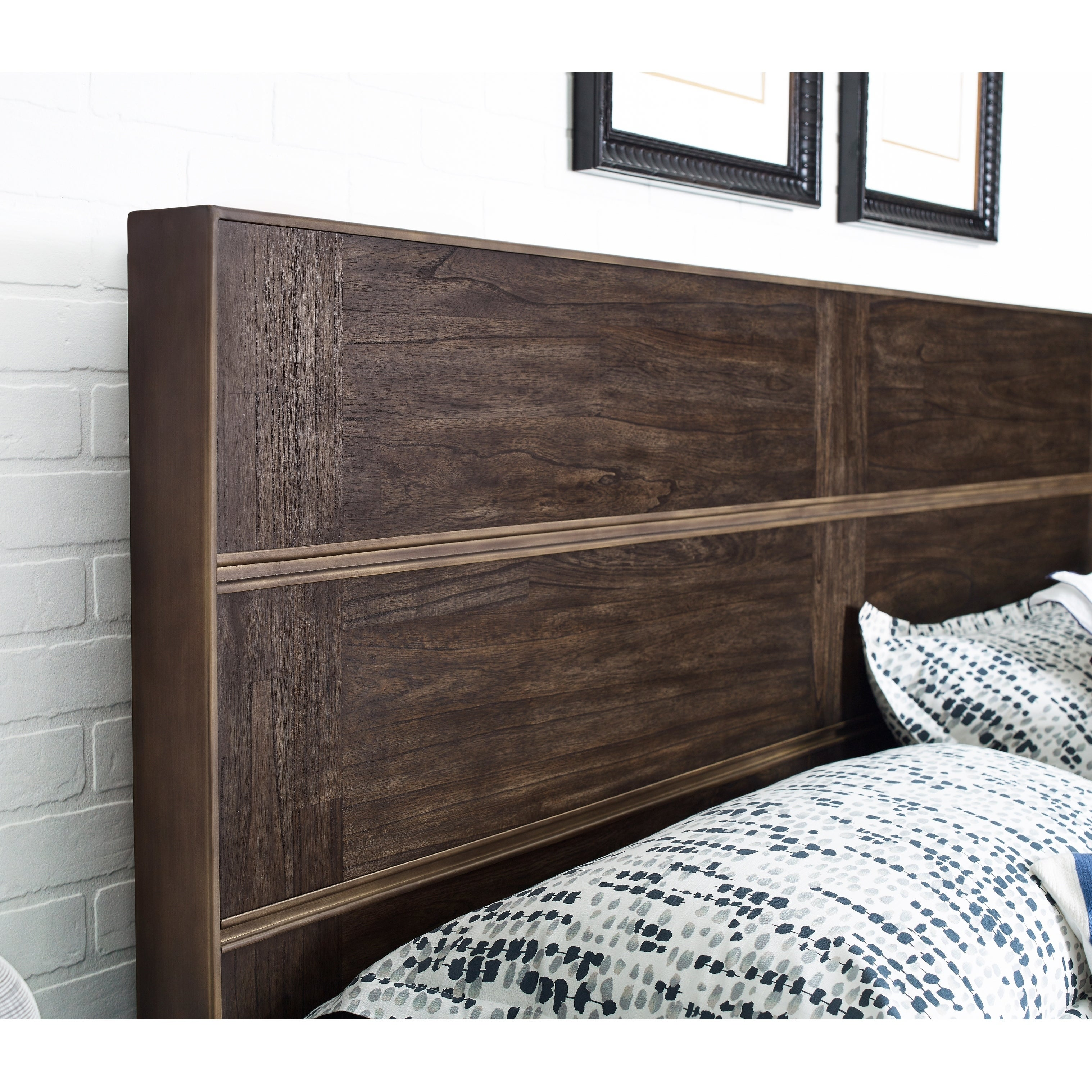MacArthur Terrace King Size Metal and Wood Panel Headboard