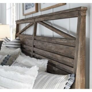 Bluff Heights Rustic Queen Panel Bed Headboard