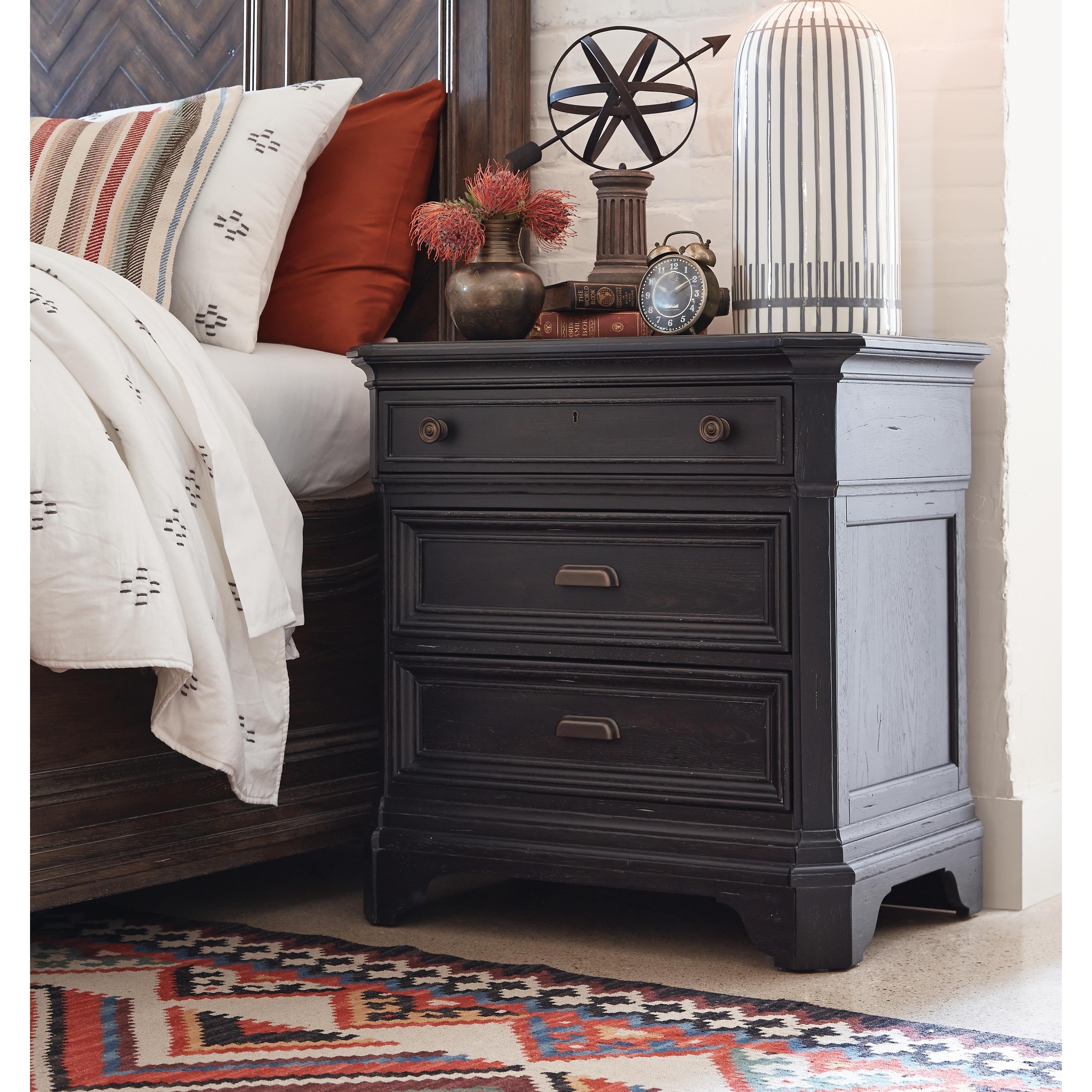 Hudson Square Vintage Charcoal Drawer Nightstand