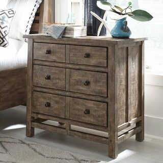Bluff Heights Rustic Weathered Nutmeg Drawer Nightstand