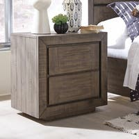 Granada Hills Contemporary Pebblestone Drawer Nightstand
