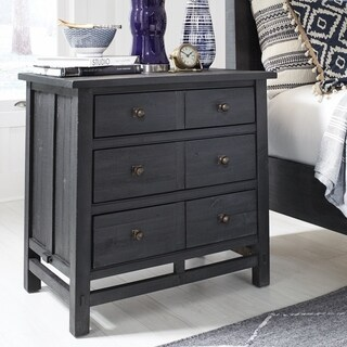 Lake Haven Rusic Washed Denim Drawer Nightstand