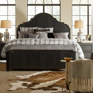Bishop Hills Traditional King Curved Panel Bed - 86.25l x 81.50w x 72.00h