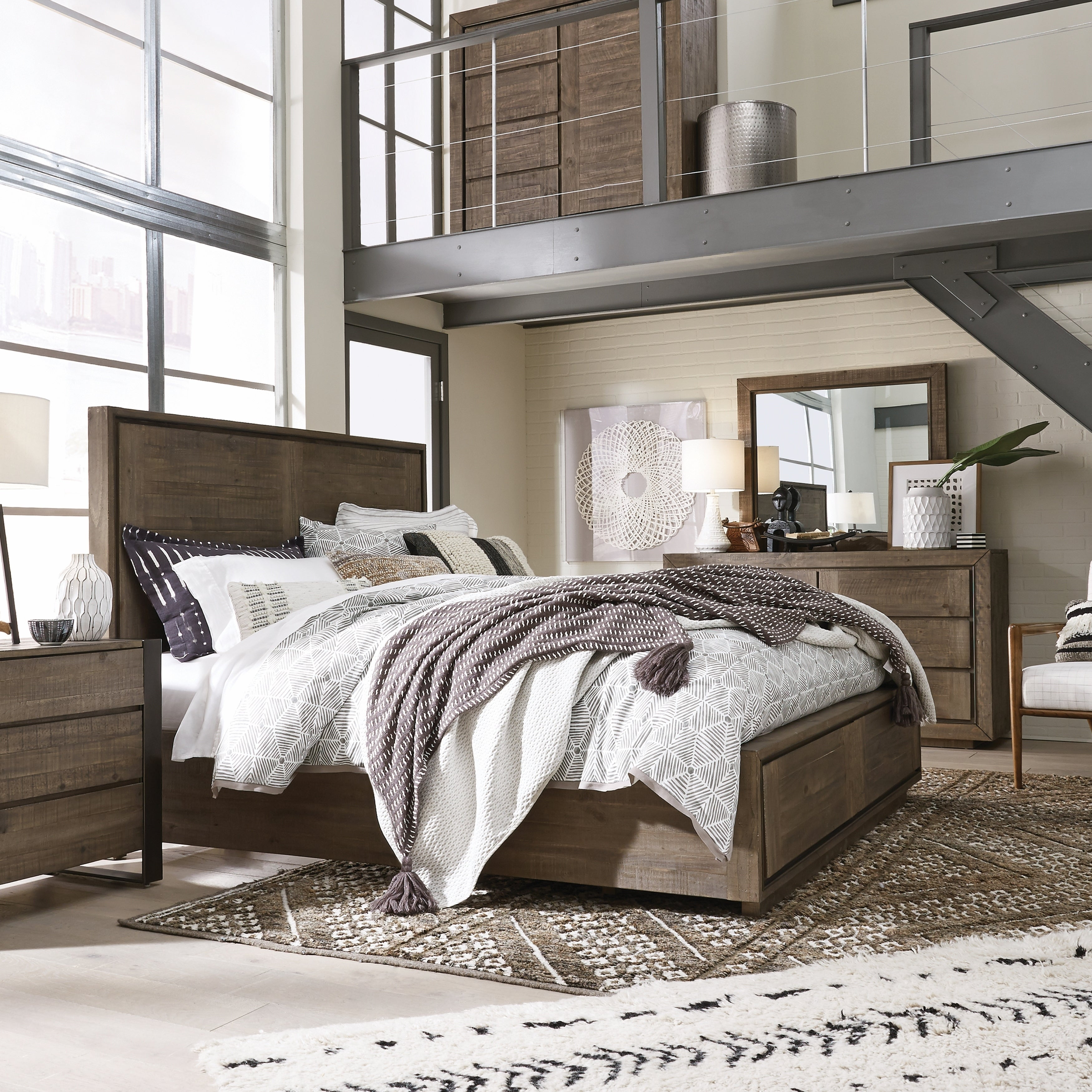 Granada Hills Contemporary Queen Panel Bed