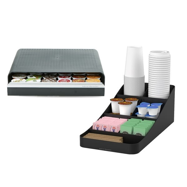 Mind Reader 36 Capacity K Cup Coffee Pod Storage Drawer With 7 Compartments  For Cups