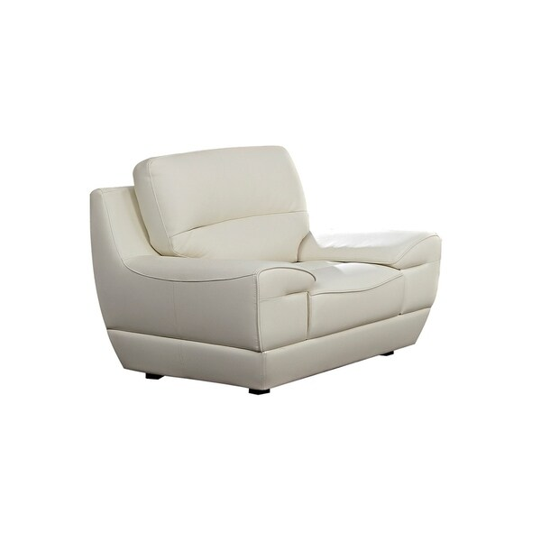 White Italian Leather Chair