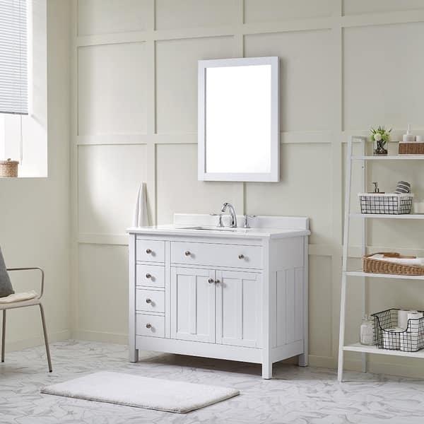 Shop Ove Decors Newcastle 42 Pure White Undermount Single