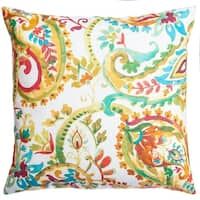Softline Home Fashion's Lerin 20-inch Feather Down Decorative Pillow (Set of 2)