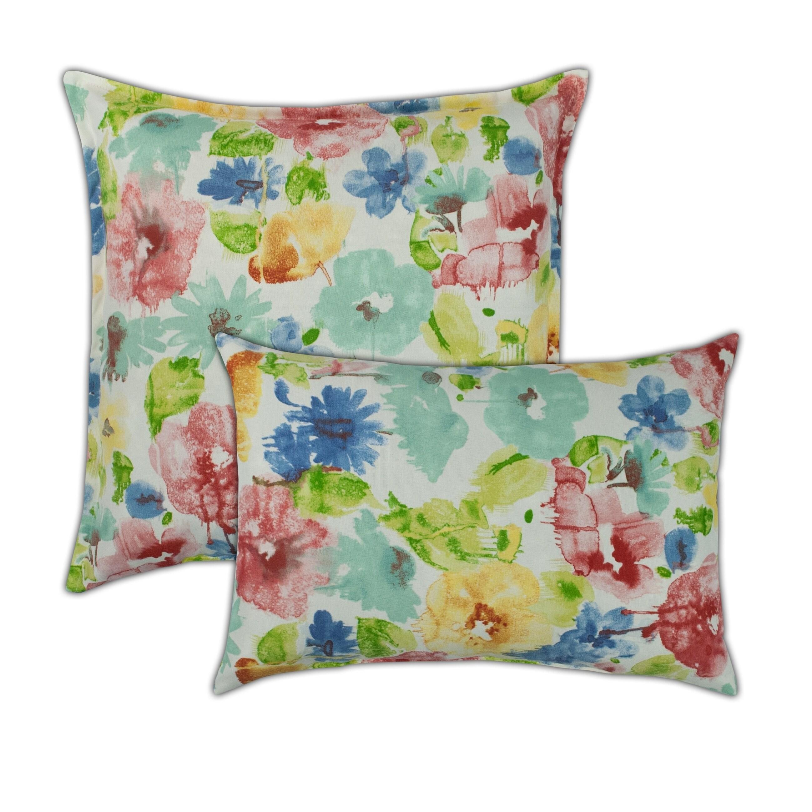 Sherry Kline Alcove White Combo Outdoor Pillows