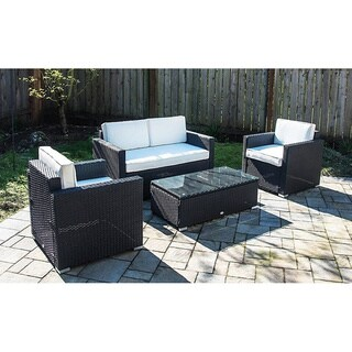 Outsunny 4-piece Outdoor Rattan Wicker Patio Furniture Set