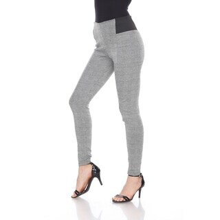 White Mark Jacquard Slim Pants (More options available)