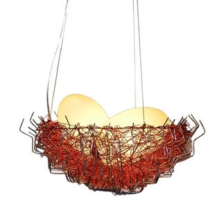 Metal Birds Nest Pendant Lamp