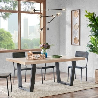 """INK+IVY Arcata Natural Dining Table - 72""""w x 38""""d x 30""""h"""