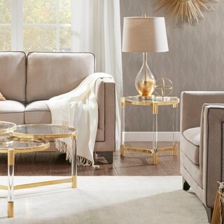 """Madison Park Bartow Gold End Table - 20.5""""w x 19.25""""d x 20.25"""""""