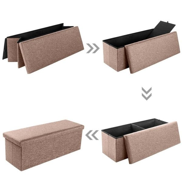 Wondrous Shop 43 Fabric Storage Ottoman Bench Foot Rest For Bedroom Dailytribune Chair Design For Home Dailytribuneorg