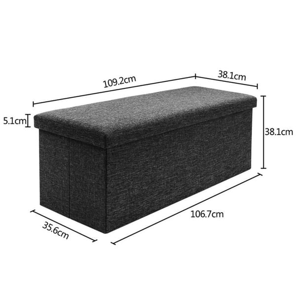 Sensational Shop 43 Fabric Storage Ottoman Bench Foot Rest For Bedroom Dailytribune Chair Design For Home Dailytribuneorg