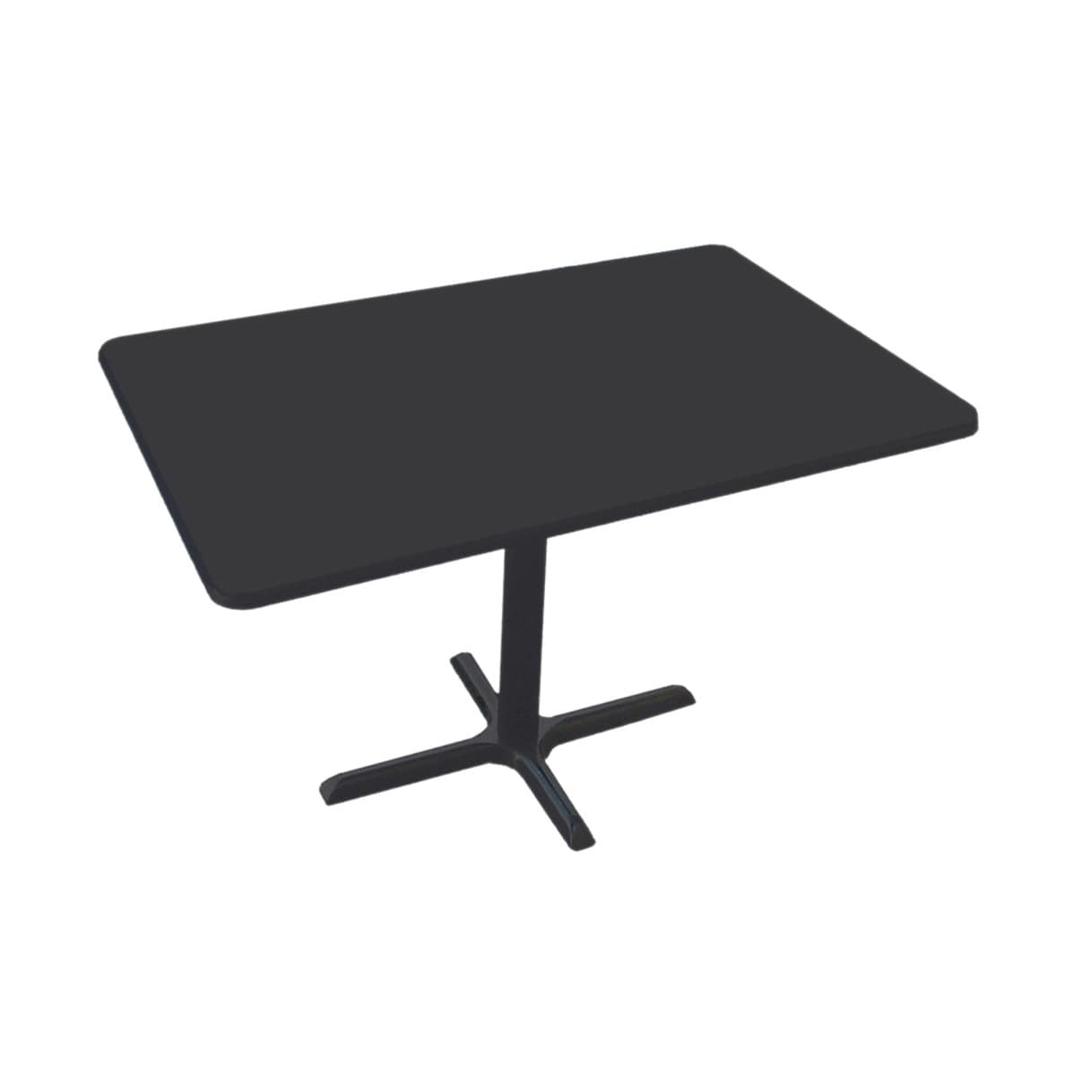 Correll Table Height High Pressure Cafe and Breakroom Rectangular Table - Black Granite - 30W x 42L
