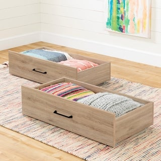South Shore Fakto Set of 2 Drawers on Wheels