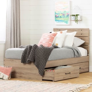 South Shore Fakto Bed Set with 2 Drawers Size - Twin
