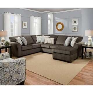 Shop Tracey Chocolate Sleeper Sectional Free Shipping