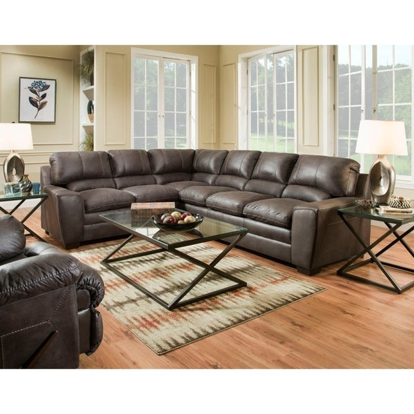 Shop Simmons Upholstery Orlando Sectional Sofa - Free Shipping Today ...