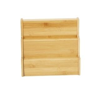 Mind Reader 3 Tier Multi Purpose Kitchen Storage Organizer, 2 Pieces, Environment Friendly Bamboo Brown