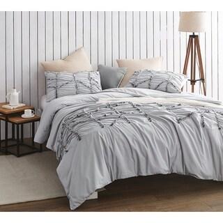 BYB Alexandra Textured Oversized Duvet Cover - Glacier Gray