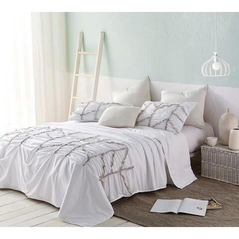 BYB Alexandra Textured Oversized Comforter - White