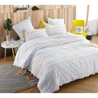BYB Threads Textured Oversized Comforter - Gray/Yellow