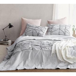 BYB Alexandra Textured Oversized Comforter - Glacier Gray