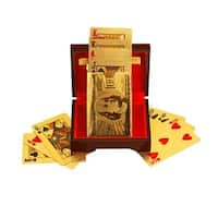 F.S.D 24K Gold-Plated Playing Cards with Optional Case - GOLD - N/A