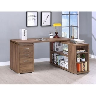 Shipton L-Shape Desk (Oak Finish - Oak)