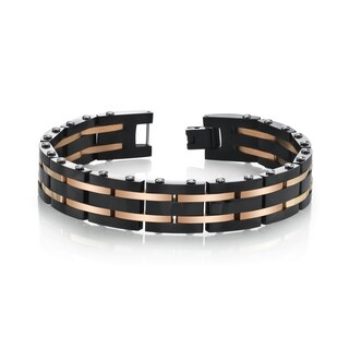 SPARTAN Two-Tone Stainless Steel Men's Bracelet