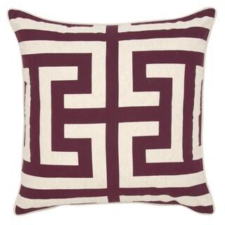 Kosas Home Lana Printed 22 inch Throw Pillow (Option: Burgundy/Ivory)