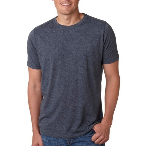Next Level mens Poly/Cotton Short-Sleeve Crew Tee (6200)
