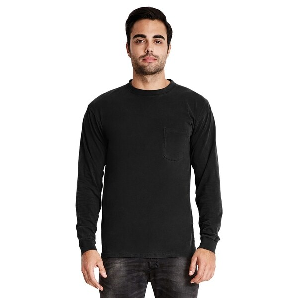 050c30a62f07a8 Shop Next Level mens Inspired Dye Long-Sleeve Crew with Pocket (7451) - On  Sale - Free Shipping On Orders Over  45 - Overstock.com - 22439467