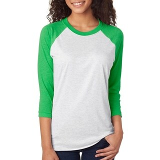 Next Level mens Tri-Blend 3/4-Sleeve Raglan Tee (6051)
