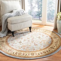 Safavieh Lyndhurst Traditional Oriental Light Blue/ Ivory Rug - 8' x 8' Round