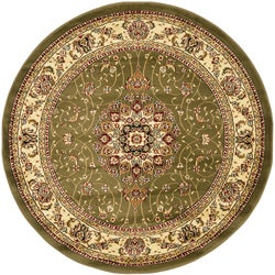 "Safavieh Lyndhurst Traditional Oriental Sage/ Ivory Area Rug (5' 3"" Round)"