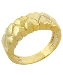 Mondevio 18-karat Yellow Gold Over Sterling Silver Women's Heart Ring
